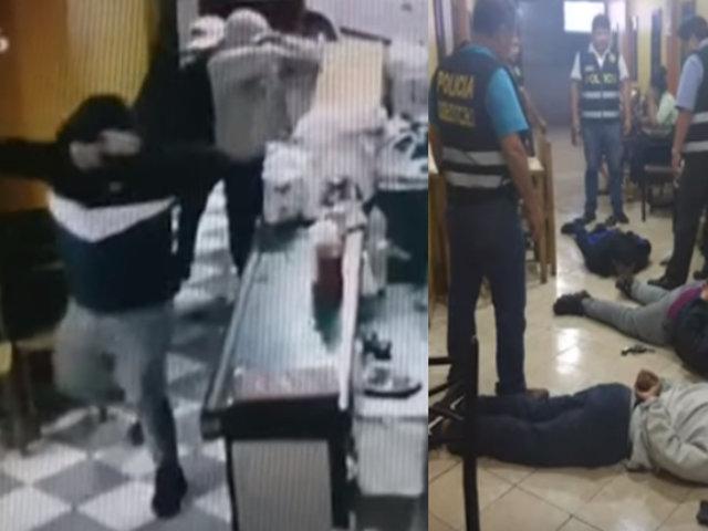 SMP: el momento exacto en que policías reducen a delincuentes cuando asaltaban pollería