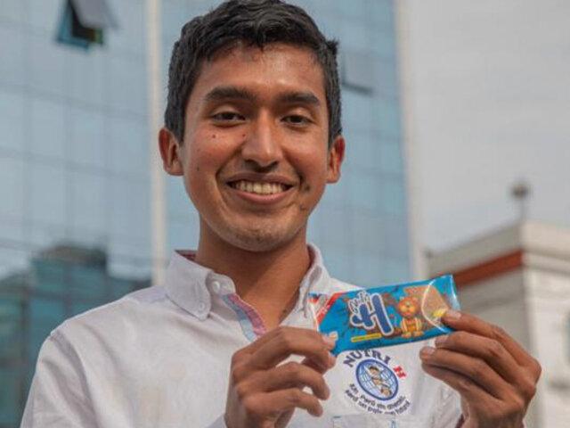Peruano ganó concurso de History Channel por galletas que combaten anemia infantil