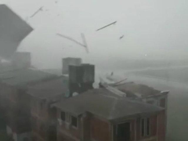 Arequipa: vientos huracanados causan estragos en la ciudad