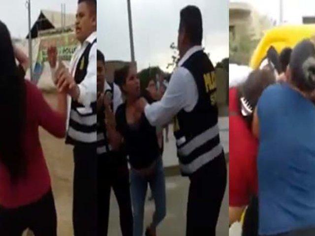 Chincha: mujeres agreden a policías para evitar que detengan a mototaxista