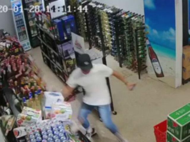 YouTube: hombre intentó salvar cervezas durante sismo y se hace viral