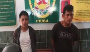 Piura: agentes policiales capturaron a delincuentes armados que participaron de robo