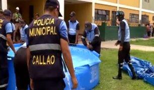 Autoridades del Callao llevaron a cabo operativo contra instalación de piscinas en vía pública