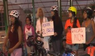 San Isidro: ciclistas protestan por rejas en el Parque Ecológico