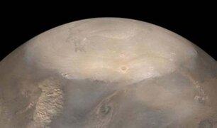 NASA capta el espectacular colapso del hielo polar en Marte
