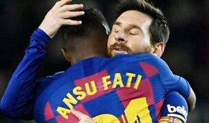 Barcelona lográ triunfo con dos goles de Ansu Fati