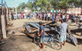 Padre e hijo mueren en incendio tras fuga de gas en Piura