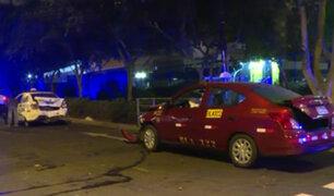 San Isidro: taxis chocan y uno de los choferes se dio a la fuga