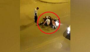 Ate: motociclista fue atropellado por conductor que manejaba a excesiva velocidad
