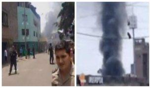 La Victoria: reportan incendio a escasos metros de un grifo