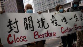Coronavirus: médicos de Hong Kong realizan huelga para exigir cierra de fronteras