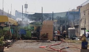 El Agustino: se registró incendio cerca a un colegio inicial