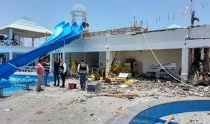 Arequipa: explosión en parque acuático deja un herido y daños materiales