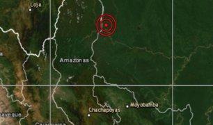 Sismo de magnitud 5,3 se reportó en Amazonas esta madrugada