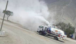 Alarma en Cieneguilla: descartan fuga de gas en camión cisterna