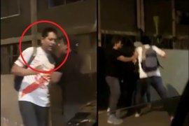Buscan identificar a sujeto que golpeó a mujer en plena calle en el Rímac