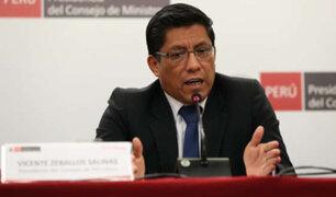 Covid-19: Zeballos pide a ciudadanos actuar con responsabilidad a partir de mañana