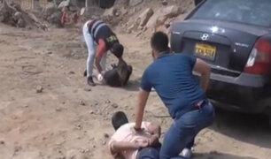 Jicamarca: caen presuntos extorsionadores con auto robado