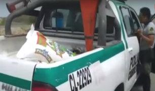 Piura: Policías reciben sacos de arroz como coima