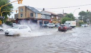Argentina: calles de Mar del Plata convertidas en ríos tras intensas lluvias