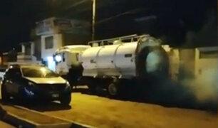 Punta Negra: humareda de cisterna genera alarma en población