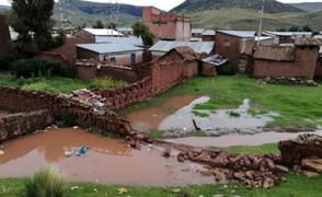 Puno: desborde de río deja más de 25 familias y 30 hectáreas de cultivos afectadas