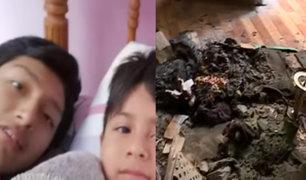 La Victoria: dos hermanitos mueren tras explosión de balón gas en su vivienda