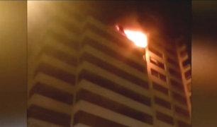 San Isidro: esposos resultaron heridos tras incendiarse su departamento