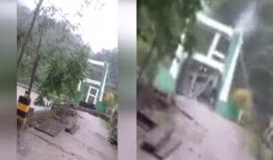 Chanchamayo: puente se desploma tras crecida de caudal de río