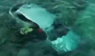 España: chofer acaba en el mar Mediterráneo tras manejar drogado