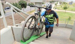 Magdalena instaló 'biciRieles' en puentes peatonales de la Costa Verde