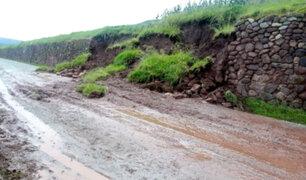 Muro inca se desploma tras intensas lluvias en Cusco
