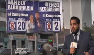 Partidos políticos aún no retiran propaganda a 16 días de las elecciones congresales