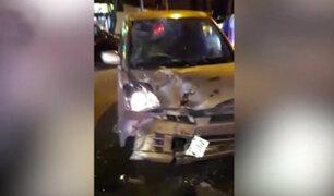 Miraflores: imprudencia ocasionó accidente entre dos vehículos