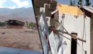 Vientos huracanados dejan 40 viviendas sin techo en Chiclayo
