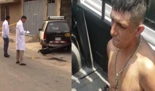SMP: agentes policiales capturaron a presunto asesino de taxista