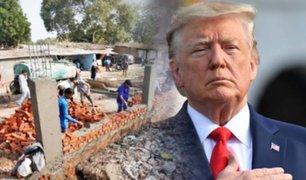 India: polémica por muro construido por visita de Donald Trump