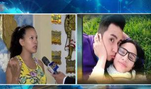 Extranjera embarazada busca desesperadamente a su esposo