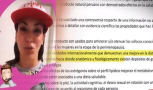 """ASPEC se pronuncia por pastillas """"para bajar de peso"""" que publicitaba Tilsa Lozano"""