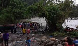 Puno: un muerto y 21 desaparecidos deja naufragio en el río Inambari