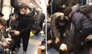VIDEO: finge tener coronavirus y desata histeria dentro de tren