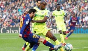 Barcelona venció con dificultad al Getafe en la Liga de España