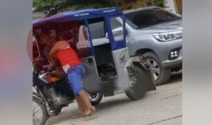 Bagua: captan a mujer agrediendo a su pareja con cabezazos y cachetadas