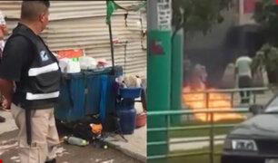 Huarochirí: comerciante sufre graves quemaduras tras explosión de galones de thinner