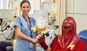 INSN realiza campaña de donación de sangre con personajes de Star Wars