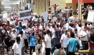 Chincha: cientos de personas marchan por falta de agua