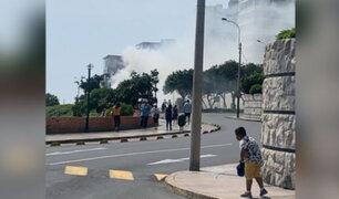 Miraflores: reportan incendio en malecón de Armendáriz
