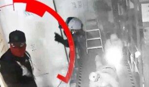 Delincuentes hacían forado en casas contiguas para robar miles de soles a empresas y bancos