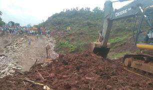 Huánuco: caída de roca sobre carretera Federico Basadre dejó un muerto y tres heridos