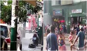 La Victoria: personas huyen despavoridas ante fuga de gas cerca de Gamarra
